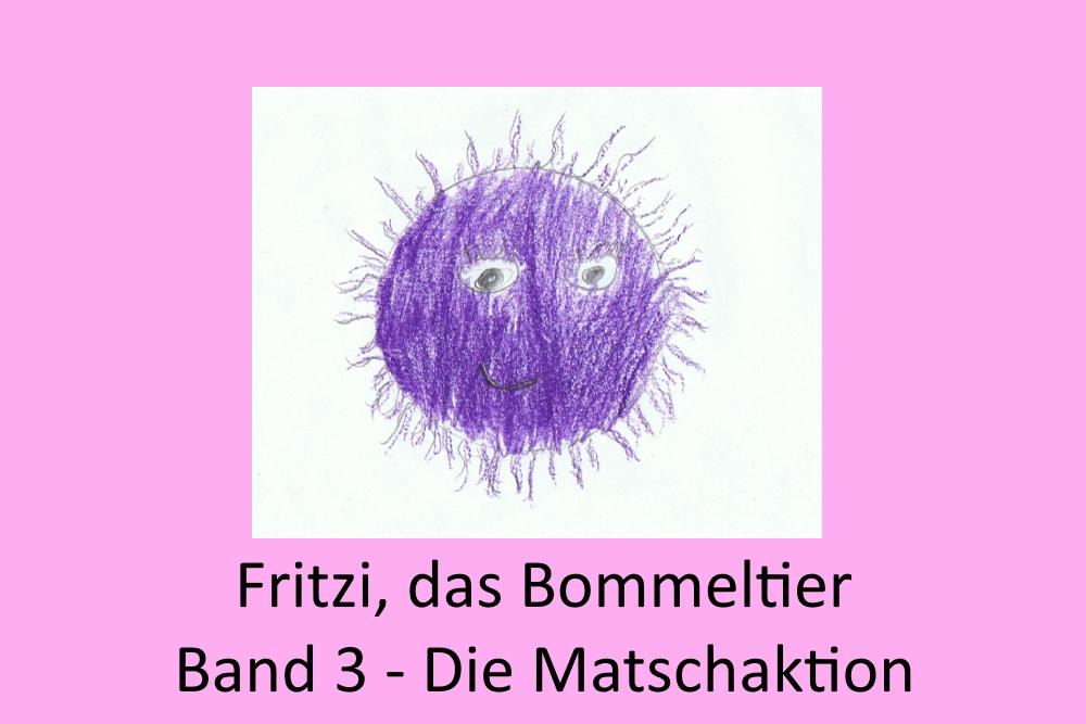 Ein gemaltes Bild, das Fritzi, das Bommeltier zeigt